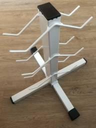 Suporte de aço para 3 pares de halteres