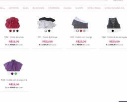 Lote, atacado de Coletes com 29 peças devido a fechamento de Loja Online Migles.com.br