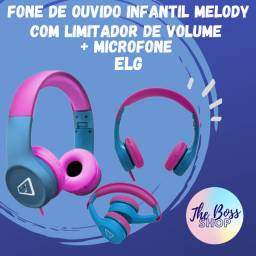 Fone De Ouvido Infantil Melody Com Limitador De Volume ELG