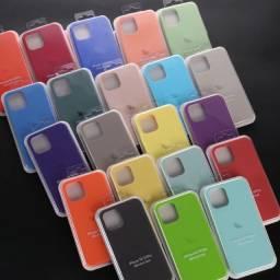 Capa Iphone silicone com logo 6 6s 7 8 Plus X Xr Xs 11 com Frete Grátis!
