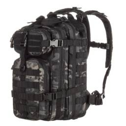 Mochila Tática Assault Camuflado Multicam Black - Invictus