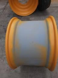 Roda traseira W16L x 24 retroescavadeira JCB 3C p/n 339/41270