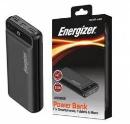 Carregador Portátil PowerBank Energizer Max / UE20009 / Preto - Novo