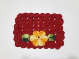 Pegador de fogão de Crochê