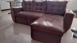 Sofá com chaise perfeito estado
