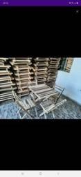 Conjuntos mesas e cadeiras dobráveis