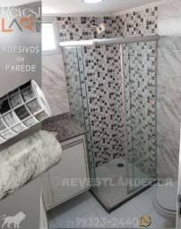 Envelopamento Película Solar Laqueamento Adesivo de Parede Porta Box Pia Banheiro Cozinha