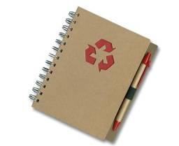 Caderno Ecológico C/ 1 Caneta. R$ 20,00