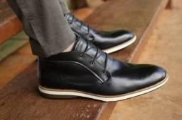 Sapato couro alto