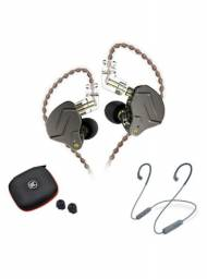 Fone kz zsn pro + modulo Bluetooth + case kz