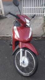 Biz 125cc Ex Total Flex full injection, Vermelha, 2014 com partida elétrica