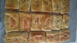 Pizza pré assada e Baurú de forno