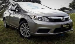 Honda Civic 2012 LXL 1.8 Automatico, Bancos de Couro, Camera de Ré