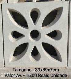 Elemento Vazado Modelo Flor