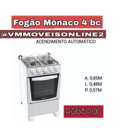 Fogão Atlás Mônaco 4 Bocas Acendimento automático Fazemos Entrega