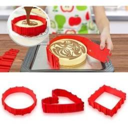 Cinta para modelar bolos silicone su171304 4 peças.
