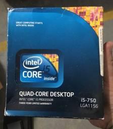 Kit combo cpu I5 placa mãe e video 6850 watercooler memória DDR3 8GB