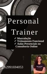 Treinamento Funcional, musculação ou Pilates. Personal trainer