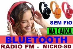 Fone Headset Sem Fio / Bluetooth/Radio Fm e Pega Cartão de Memoria ,