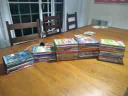 50 filmes DVD infantis - incluindo colecao de 10 cocoricos