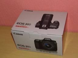 Camera Canon EOS 80D kit 18-55mm profissional nova na caixa 0km única em P.Alegre-rs