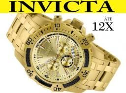 Relógio Invicta 24860 Banhado Ouro 18K 100% Original Lançamento em 12X e NF
