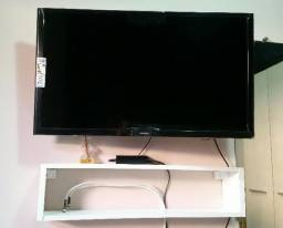 """Smart TV Samsung 32"""" com Suporte Articulável e Nicho"""