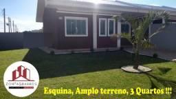 Casa à venda com 3 dormitórios em Jardim brasil, Fazenda rio grande cod:CA00059