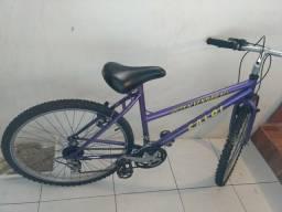 41724305d Bike roxa Caloi aro 26 com marcha