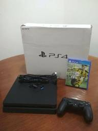 Playstation Ps 4 Slim 500gb Completo + Controle + Jogo Fifa