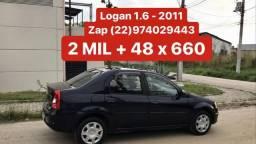 Logan 1.6 - 2011 _ 2 MIL de Entrada _ Completo _ 2 Dono - 2011