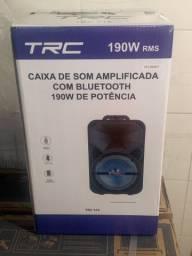 Caixa de Som Amplificada TRC 516 190W com Bluetooth USB e Rádio FM