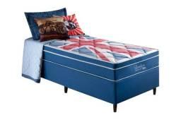 Conjunto Cama Box Anjos de Molas Superlastic London Euro Pillow pague na entrega