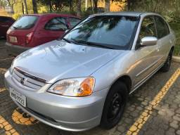 Honda Civic LX 1.7 absolutamente impecável, bx km!