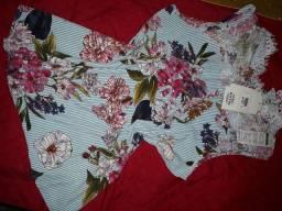 Blusas, calça e macacão