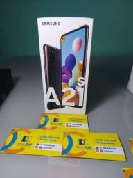Sansung A21S caixa lacrada nota e garantia de 1 ano