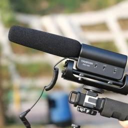 Microfone Condensador Dslr Takstar Canon Nikon Direcional