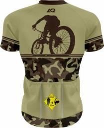 Camisa para ciclismo com proteção UV masculino e feminino