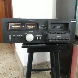 Tape Deck Gradiente preto ñ Receiver Marantz Sansui CCE Sony Akai Kenwood Technics