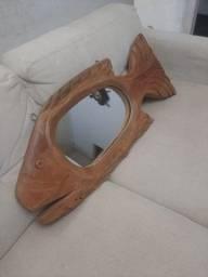 * waths. Espelho de Peixe Madeira Entalhada ,0.91 cm por  0.40 entrego $250