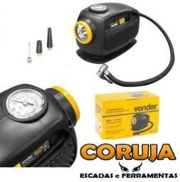 Compressor De Ar Automotivo Com Lanterna Vonder 12v P/pneu