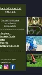 Manutenção de Jardim,  corte de grama,   E manutenção de piscinas