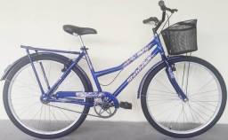 Bicicleta feminina aro 26 azul nova