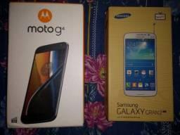 Motorola G4 + Samsung GRAND 2 DUOS TV. Com defeito. Não sei o defeito