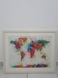 Quadro Mapa Mundi Etna