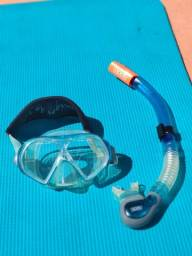 Máscara+snorkel Spdo Cor Azul