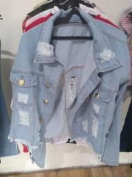 Jaqueta Jeans Manga Longa