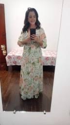 Título do anúncio: Vestido longo floral ( não aceito trocas)