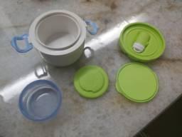Pote Térmico Para Papinha Chicco, Porta leite e Prato Giratório