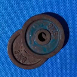 Kit 4 Anilhas de ferro de 3kg